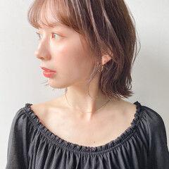 韓国風ヘアー 簡単ヘアアレンジ フェミニン ウルフカット ヘアスタイルや髪型の写真・画像