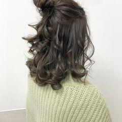 ミディアム ナチュラル オリージュ お団子ヘア ヘアスタイルや髪型の写真・画像