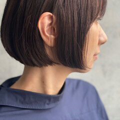 ミニボブ ショートボブ 大人かわいい 大人グラボブ ヘアスタイルや髪型の写真・画像
