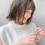鎖骨ミディアム 小顔ヘア ナチュラル 髪質改善トリートメント