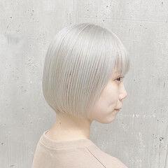 ショート ミニボブ ショートボブ ナチュラル ヘアスタイルや髪型の写真・画像