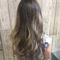 透明感カラー 春色 グレージュ 大人かわいい ヘアスタイルや髪型の写真・画像