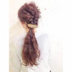 ヘアアレンジ アップスタイル ロング ストリート ヘアスタイルや髪型の写真・画像