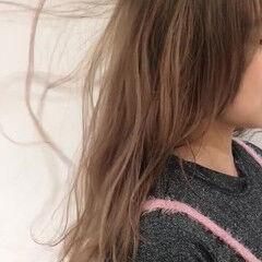 ベージュ ブラウンベージュ ミルクティー ガーリー ヘアスタイルや髪型の写真・画像