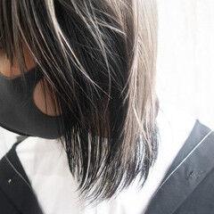 ローライト ホワイトカラー ボブ ハイトーンカラー ヘアスタイルや髪型の写真・画像