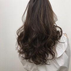 外国人風カラー ナチュラル ロング 圧倒的透明感 ヘアスタイルや髪型の写真・画像