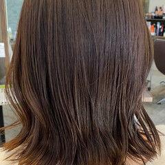 ショコラブラウン ブラウンベージュ ココアブラウン ナチュラル ヘアスタイルや髪型の写真・画像