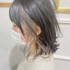 ウェット感 インナーカラー 愛され ナチュラル ヘアスタイルや髪型の写真・画像