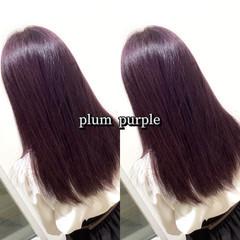 パープル ラベンダーカラー ラベンダー パープルカラー ヘアスタイルや髪型の写真・画像