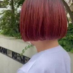 ショートボブ ボブ ブリーチ ショートヘア ヘアスタイルや髪型の写真・画像