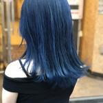 ブルーブラック フェミニン 韓国 ネイビーブルー