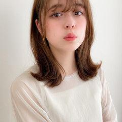 デートヘア ガーリー 大人可愛い ミディアム ヘアスタイルや髪型の写真・画像