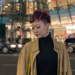 外国人風 刈り上げ女子 ショート ベリーショート ヘアスタイルや髪型の写真・画像