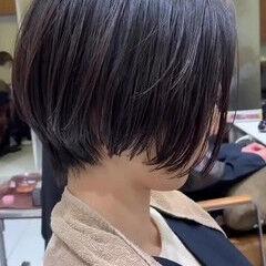 似合わせカット ショートボブ PEEK-A-BOO ボブ ヘアスタイルや髪型の写真・画像