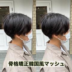 メンズショート ナチュラル メンズマッシュ メンズカット ヘアスタイルや髪型の写真・画像