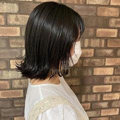切りっぱなしボブ ボブ ナチュラル ヘアドネーション ヘアスタイルや髪型の写真・画像