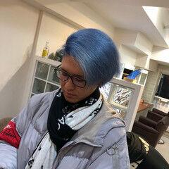 ショート 髪質改善トリートメント 派手髪 超音波 ヘアスタイルや髪型の写真・画像