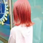 ブリーチカラー ピンク 銀座美容室 TOKIOトリートメント