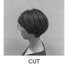 ヘアカット ナチュラル ショート 原宿 ヘアスタイルや髪型の写真・画像