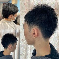 ショート ツーブロック メンズショート ストリート ヘアスタイルや髪型の写真・画像