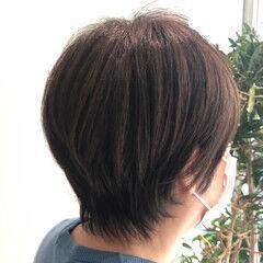 ショートボブ グレー ショートヘア エレガント ヘアスタイルや髪型の写真・画像