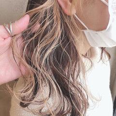 小顔ヘア 小顔ショート 透明感カラー ミディアム ヘアスタイルや髪型の写真・画像