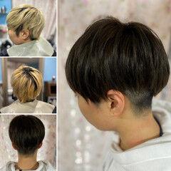 ツーブロック ショートヘア ショートボブ ショート ヘアスタイルや髪型の写真・画像