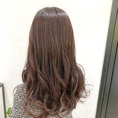 ブラウン ロング 透明感 ガーリー ヘアスタイルや髪型の写真・画像
