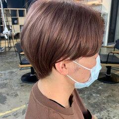 ヌーディベージュ ブリーチ必須 ピンクベージュ 透け感 ヘアスタイルや髪型の写真・画像