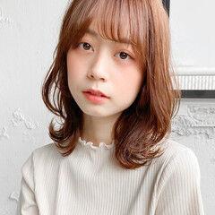 レイヤースタイル ウルフカット ミディアム 鎖骨ミディアム ヘアスタイルや髪型の写真・画像