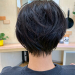 ショート ショートヘア ナチュラル 黒髪ショート