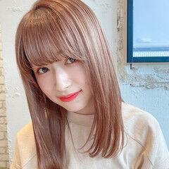 デート 縮毛矯正ストカール ヘアアレンジ ストレート ヘアスタイルや髪型の写真・画像