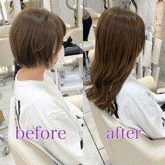 ロング 髪質改善トリートメント イメチェン 大人ミディアム ヘアスタイルや髪型の写真・画像