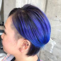 ショート カラートリートメント エレガント ブリーチ ヘアスタイルや髪型の写真・画像