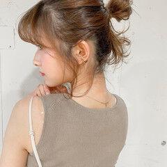 ショートヘアアレンジ セルフヘアアレンジ ヘアアレンジ ナチュラル ヘアスタイルや髪型の写真・画像