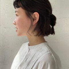 ボブ  パーマ ゆるふわパーマ ヘアスタイルや髪型の写真・画像