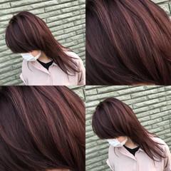 外国人風 3Dカラー ウルフカット セミロング ヘアスタイルや髪型の写真・画像