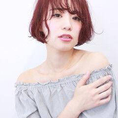 かわいい フェミニン ショート 簡単ヘアアレンジ ヘアスタイルや髪型の写真・画像