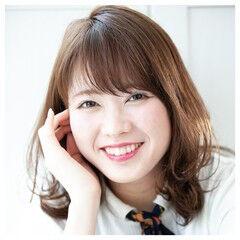 大人女子 大人かわいい セミロング 髪質改善 ヘアスタイルや髪型の写真・画像