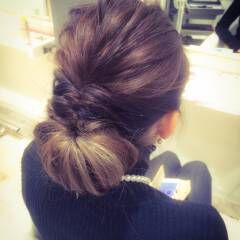 アッシュ シニヨン オールバック ショート ヘアスタイルや髪型の写真・画像