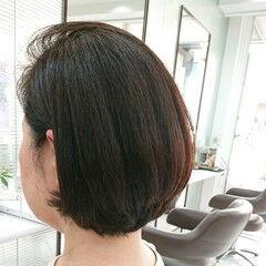 ボブ 美シルエット 大人女子 モード ヘアスタイルや髪型の写真・画像