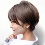 ショートヘア 外国人風カラー 透明感カラー ショート