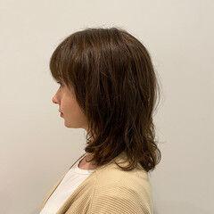 ハイライト ミディアムレイヤー ミディアム 美シルエット ヘアスタイルや髪型の写真・画像