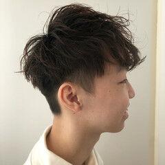 ショート メンズ 無造作パーマ メンズパーマ ヘアスタイルや髪型の写真・画像