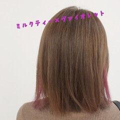 ヴァイオレット ナチュラル 大人ショート 大人かわいい ヘアスタイルや髪型の写真・画像