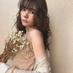 デート 上品 アンニュイほつれヘア ロング ヘアスタイルや髪型の写真・画像
