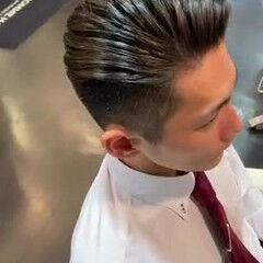 メンズパーマ ショート 刈り上げ モード ヘアスタイルや髪型の写真・画像