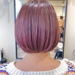 ラズベリーピンク 透明感カラー ピンクバイオレット ブリーチオンカラー