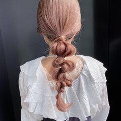 艶カラー 艶髪 簡単ヘアアレンジ ロング ヘアスタイルや髪型の写真・画像