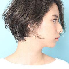 ショートボブ 丸みショート 大人ショート 小顔ショート ヘアスタイルや髪型の写真・画像